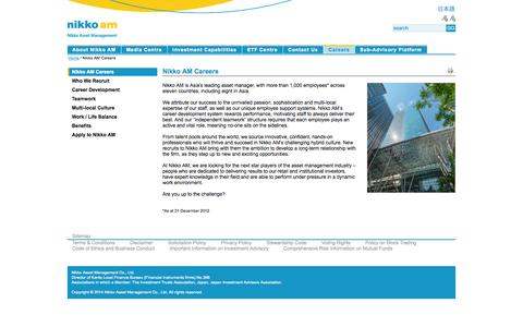 Screenshot of Jobs Page nikkoam.com - Nikko AM Careers - captured Oct. 26, 2014