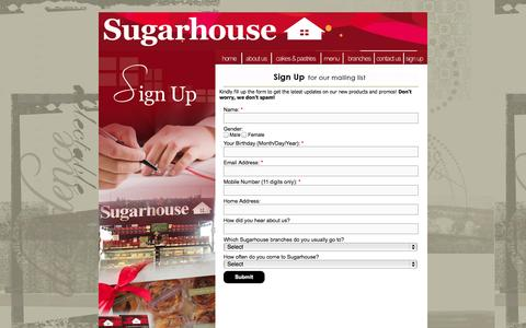 Screenshot of Signup Page sugarhouse.com.ph - Sign Up | Sugarhouse - captured Oct. 2, 2014