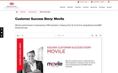Screenshot of Case Studies Page equinix.com - Movile Customer Success Story | Equinix - captured Dec. 29, 2017