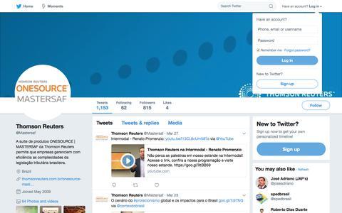 Thomson Reuters (@Mastersaf) | Twitter