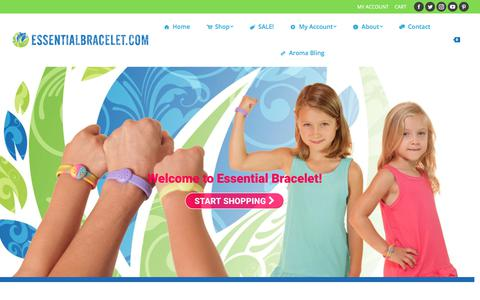 Screenshot of Home Page essentialbracelet.com - Essential Oil Jewelry, Aromatherapy Diffusers & More | Essential Bracelet - captured July 21, 2018