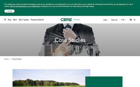 Screenshot of Case Studies Page cbre.co.th - Case Studies / Advantage Delivered | CBRE Thailand - captured Aug. 9, 2019