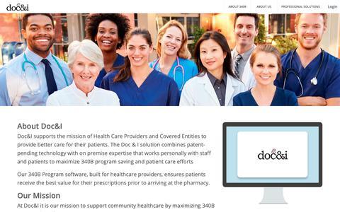 Screenshot of About Page docandi.com - DOC&I - captured Nov. 14, 2018