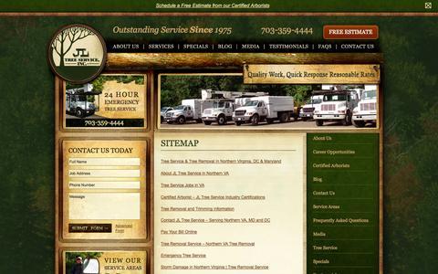 Screenshot of Site Map Page jltreeservice.com - JL Tree Service SiteMap - captured Oct. 4, 2014