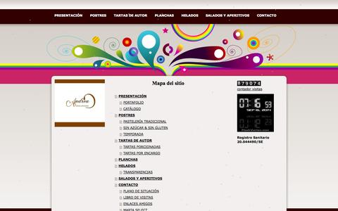 Screenshot of Site Map Page jimdo.com - Mapa del sitio - andreadulcessolucioness jimdo page! - captured Sept. 16, 2014