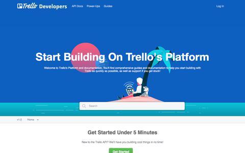 Screenshot of Developers Page trello.com - Trello Developers - captured July 24, 2017