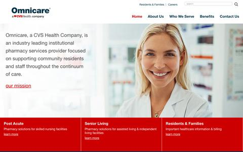Screenshot of Home Page omnicare.com - Long Term Pharmacy Care | Omnicare - captured April 10, 2017