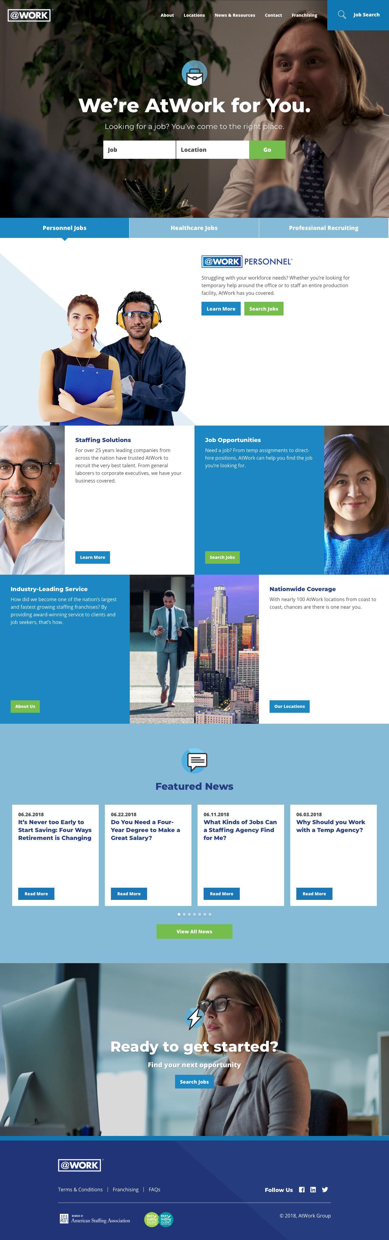 Screenshot of atwork.com - Home | AtWork - captured June 29, 2018