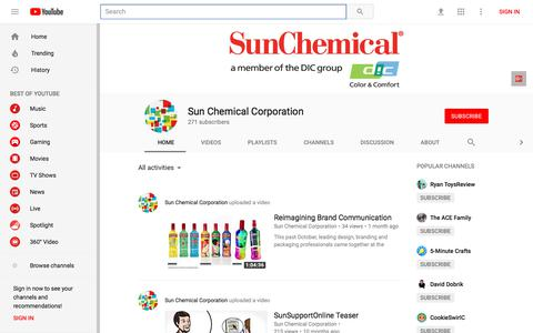 Sun Chemical Corporation - YouTube - YouTube