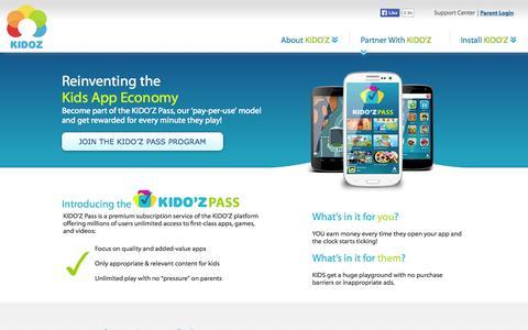 Screenshot of Developers Page kidoz.net - Developers - captured Sept. 16, 2014