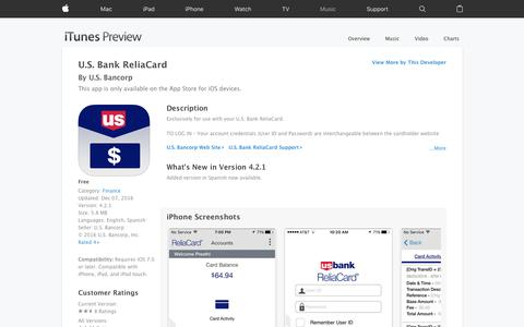 U.S. Bank ReliaCard on the App Store