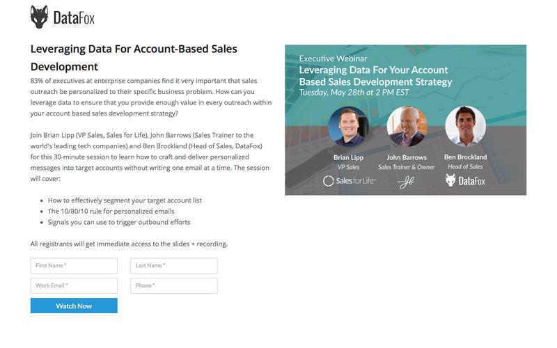 Leveraging Data For Account-Based Sales Development
