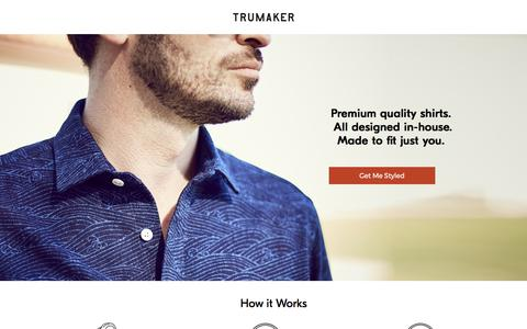 Screenshot of Landing Page trumaker.com - Custom Shirts - Trumaker - captured Sept. 13, 2017