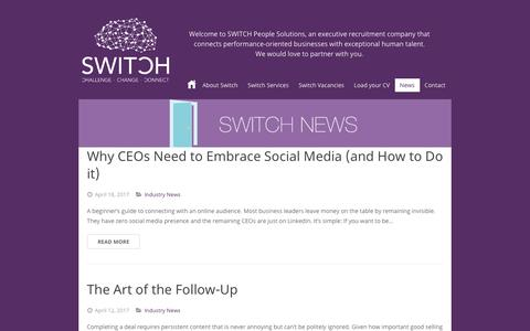 Screenshot of Press Page switchccc.com - Switch Recruitment News | Switch People Solutions - captured Oct. 20, 2018
