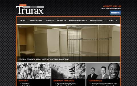Screenshot of Home Page trurax.com - Trurax - captured Oct. 9, 2014