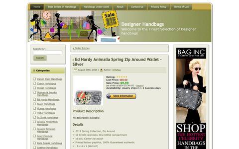 Screenshot of Home Page gotbags.net - Designer Handbags - captured Sept. 19, 2014
