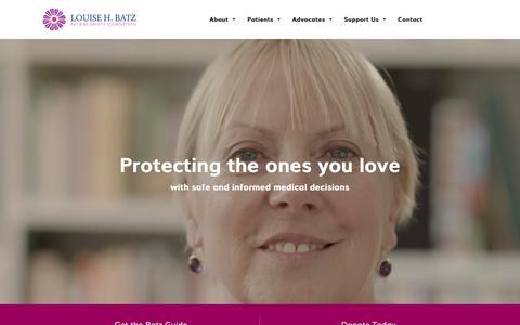 Screenshot of Home Page louisebatz.org - Home - Louise Batz - captured Feb. 25, 2016
