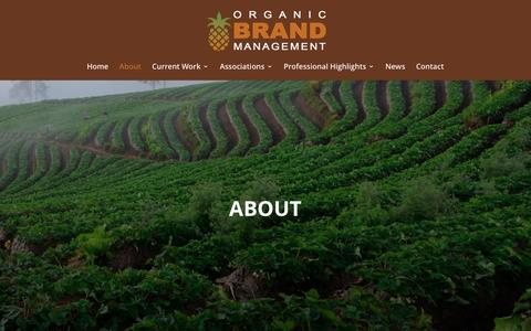 Screenshot of About Page organicbrandmanagement.com - About | Organic Brand Management - captured Dec. 6, 2016