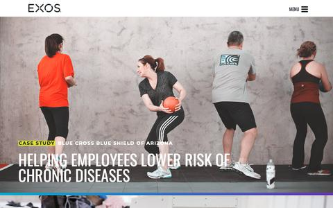 Screenshot of Case Studies Page teamexos.com - Case Studies on Health and Performance - captured May 5, 2019