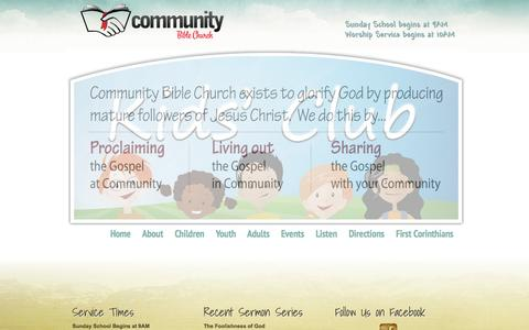 Screenshot of Home Page cbcpalmyra.org - Community Bible Church - captured Oct. 2, 2014