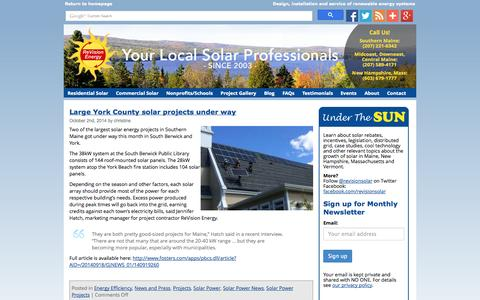 Screenshot of Blog revisionenergy.com - Maine Solar Blog - Solar Panels Info New Hampshire, Massachusetts - captured Oct. 6, 2014