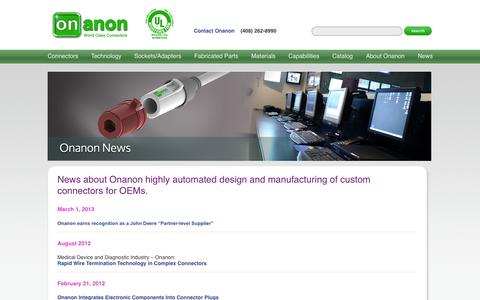 Screenshot of Press Page onanon.com - Onanon News   Onanon - captured Oct. 7, 2014