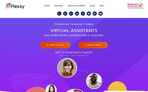 Screenshot of Login Page flexxy.nl - Flexxy – Virtual Assistants - captured Dec. 10, 2018