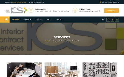 Screenshot of Services Page interiorcontract.com - Services | Interior Contract Services Orlando, FL - captured Oct. 12, 2018