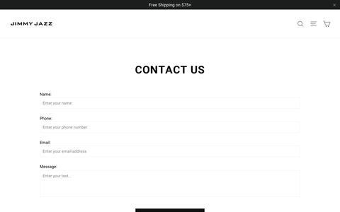 Screenshot of Contact Page jimmyjazz.com - Contact Us | Jimmy Jazz - captured Feb. 19, 2020