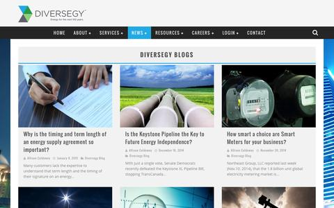 Screenshot of Blog diversegy.com - energy blogs relating to energy brokerage issues | Diversegy - captured Jan. 7, 2016