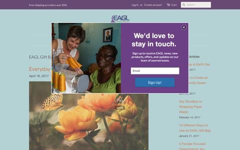 Screenshot of Blog eaglgiftbags.com - EAGL Gift Bags - captured May 13, 2017