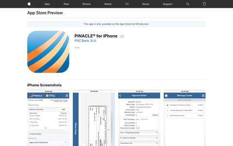 PINACLE® for iPhone on the AppStore