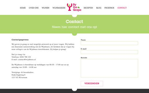 Screenshot of Contact Page bythegrape.nl - Contact - By the Grape - captured Aug. 5, 2018