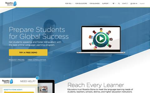 K12 Rosetta Stone® Language Solutions For Schools and School Districts
