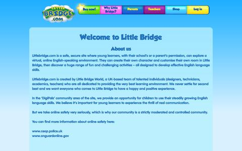 Screenshot of About Page littlebridge.com - About Us | Little Bridge World - captured Sept. 16, 2014