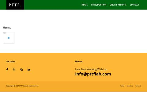Screenshot of About Page pttflab.com - PTTF Lab - Home - captured Oct. 18, 2016