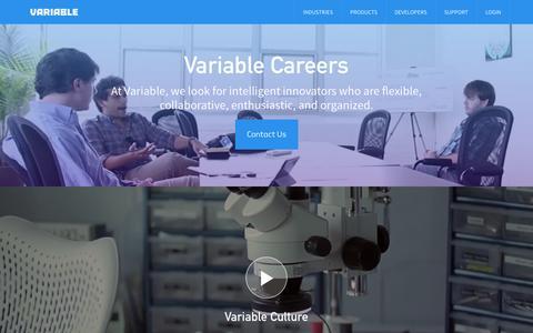 Screenshot of Jobs Page variableinc.com - Careers | Variable, Inc. - captured Sept. 17, 2014