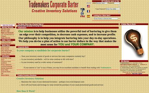 Screenshot of Home Page trademakers.ca - Trademakers - captured Jan. 18, 2016