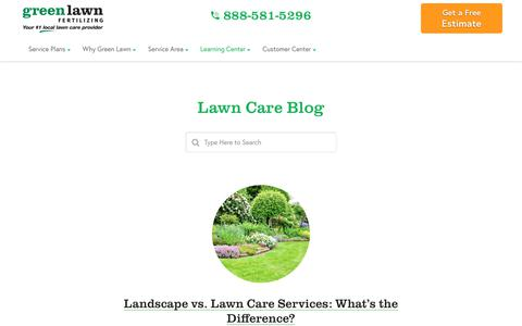 Screenshot of Blog greenlawnfertilizing.com - Lawn Care Blog | Green Lawn Fertilizing - captured Dec. 22, 2019