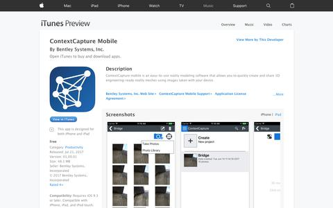 ContextCapture Mobile on the App Store