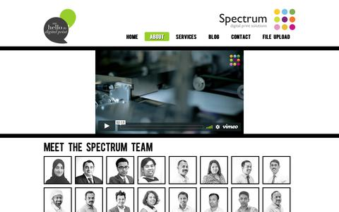 Screenshot of About Page spectrumdubai.com - About | Spectrum Digital Print, About Dubai, Print Services Dubai, Business Cards Dubai - captured Oct. 19, 2018