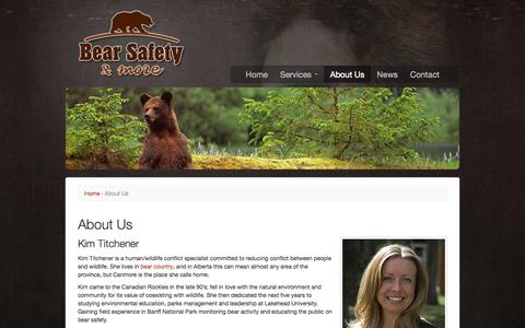 Screenshot of About Page bearsafety.com - About Us | Bear Safety & More - captured Oct. 5, 2014
