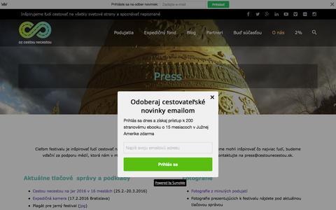 Screenshot of Press Page cestounecestou.sk - Press - Cestou necestou   Cestou Necestou - captured Feb. 15, 2016