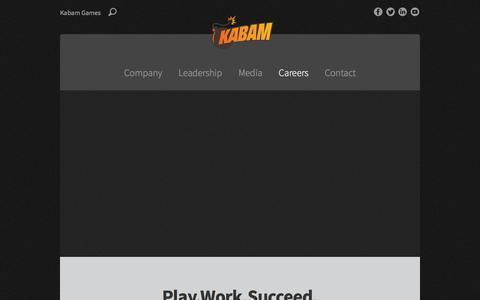 Screenshot of Jobs Page kabam.com - Careers - Kabam - captured Sept. 16, 2014