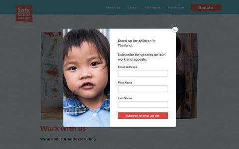 Screenshot of Jobs Page safechildthailand.org - Jobs | Safe Child Thailand - captured Nov. 19, 2018