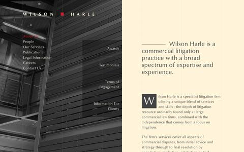 Screenshot of About Page wilsonharle.com - Wilson Harle - About Us - captured June 13, 2017