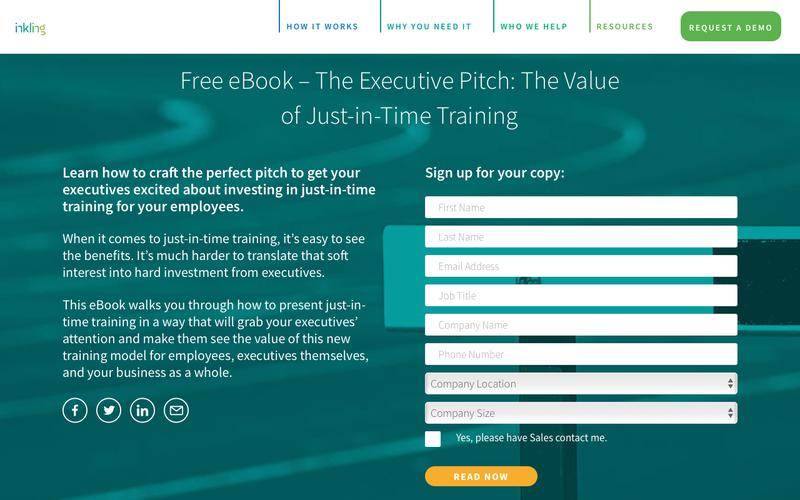 The Executive Pitch: The Value of Just-in-Time Training
