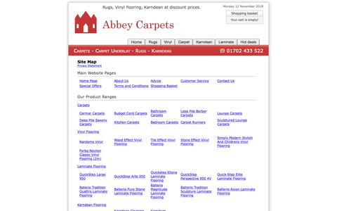 Screenshot of Site Map Page abbey-carpets.co.uk - Site Map : Abbey Carpets - captured Nov. 12, 2018