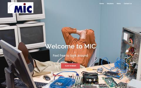 Screenshot of Home Page mic-net.net - McCormick Internet Consultants | Making you fall in love with technology again - captured Sept. 19, 2015