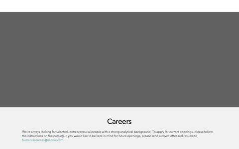 Screenshot of Jobs Page econw.com - Careers — ECONorthwest - captured June 12, 2018